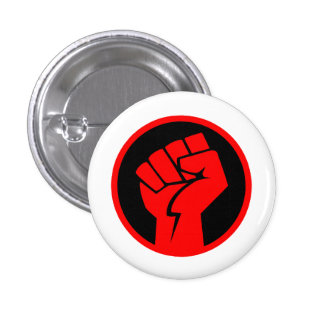Red Fist of Communism: Political Philosophy 3 Cm Round Badge