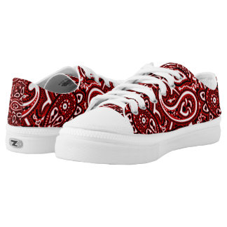 Red Flag Low Tops