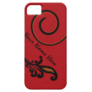 Red Flair Personalized iPhone 5 Case