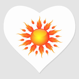 red flame sun ecology graphic.png heart sticker