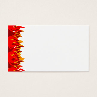 Red Flames Business Card Template