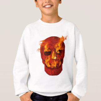 Red Flaming Skull Sweatshirt