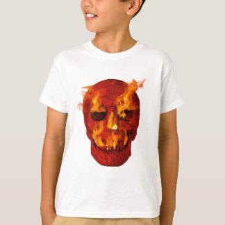 Red Flaming Skull T-Shirt