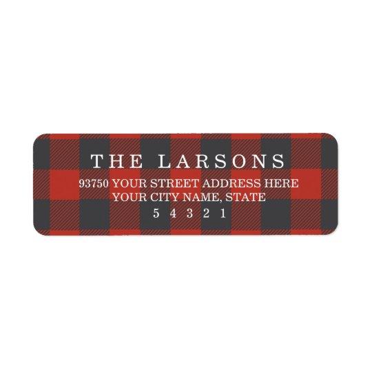 Red Flannel Return Address Label
