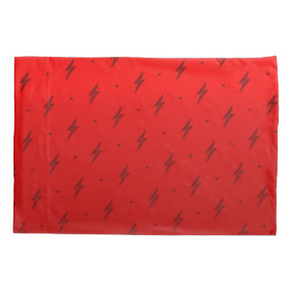 Red Flash Pattern Pillowcase