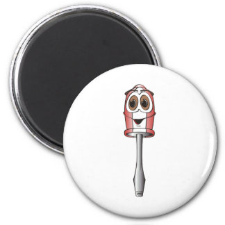 Red Flathead Screwdriver Fridge Magnet