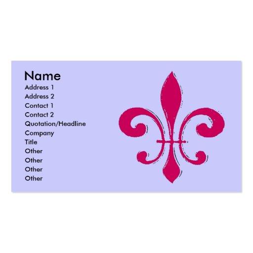 Red Fleur De Lis Business Card Template