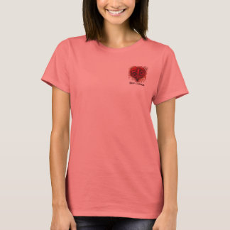Red Fleur De Lis Heart Pocket Design Shirt
