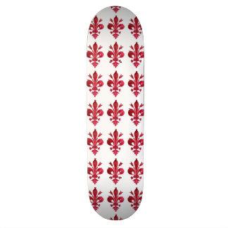 RED FLEUR DE LISE SKATE BOARD