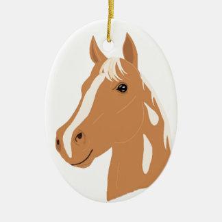 Red Flight the Happy Horse Ceramic Ornament
