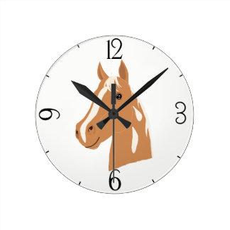 Red Flight the Happy Horse Round Clock