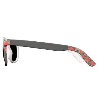 Red Floral and Black Statement Sunglasses