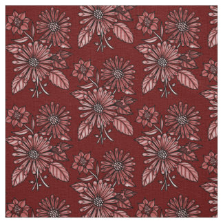 Red Floral Bouquet Fabric