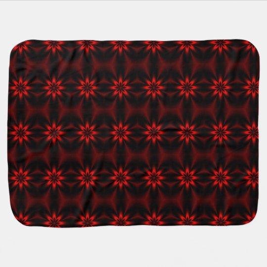 Red Floral Burst Baby Blanket