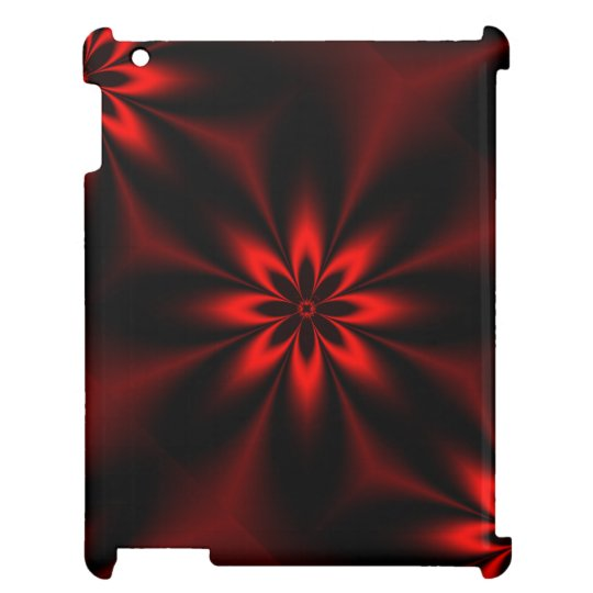 Red Floral Burst iPad Covers