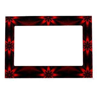 Red Floral Burst Magnetic Frame