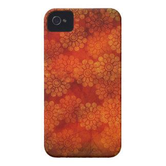 Red floral design Blackberry Case