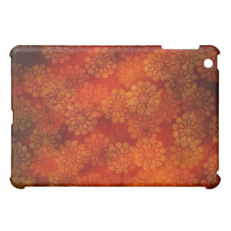 Red floral design iPad Case