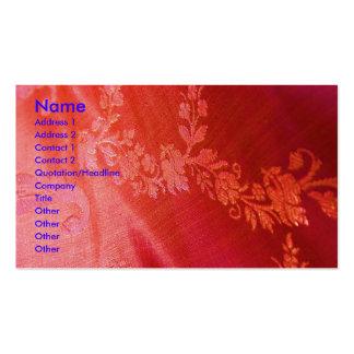 Red Floral Elegance Artist Business Card Business Cards