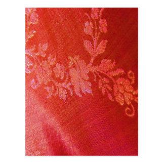 Red Floral Elegance I Postcard -  Customizable