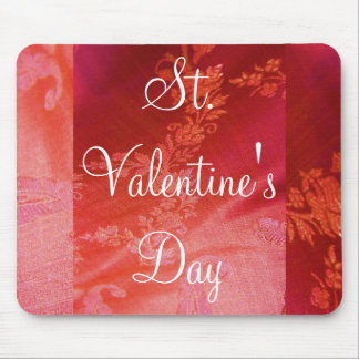 Red Floral I Mousepad- Customizable Mouse Pad