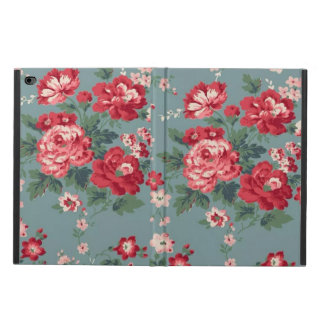 Red Floral iPad Air 2 Case with No Kickstand