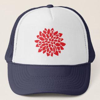 Red Floral Modern Pattern Trucker Hat