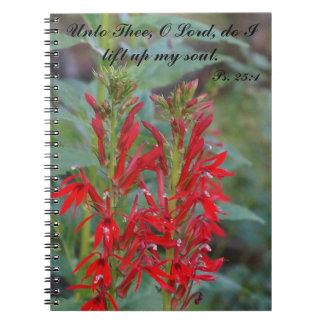 Red Floral Notebook with KJV Scripture