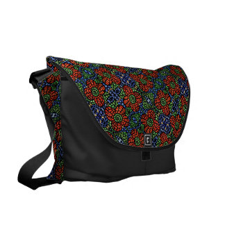 Red Floral Pattern Courier Bag