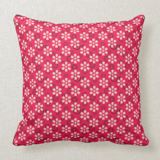 red floral pillow pattern