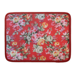 Red floral Rickshaw Macbook Sleeve,cover,case Sleeve For MacBooks