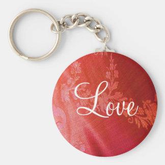 Red Floral Valentine Keychain - Customizable Keychains