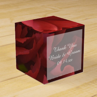 Red Floral Wedding Favour Box