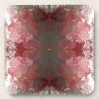 Red Flow Pattern Coaster