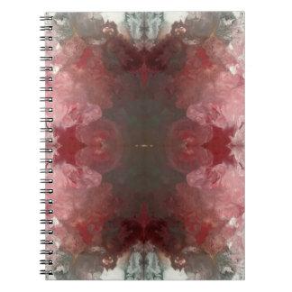Red Flow Pattern Notebook