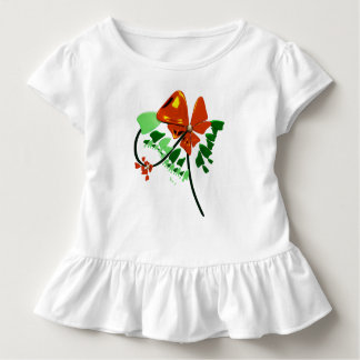 red flower abstract design toddler T-Shirt