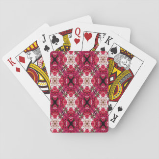 Red Flower Abstract Playing Cards