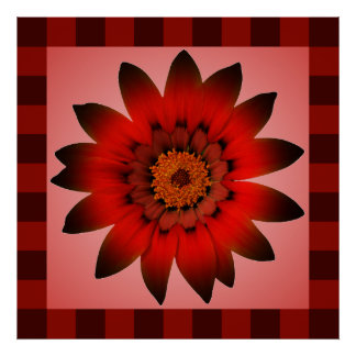 Red FLower artwork - Posters