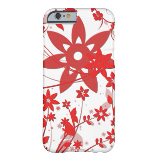 Red Flower Barely There iPhone 6 Case