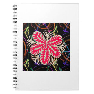 RED Flower Custome Template ADD Text move img fun Spiral Notebook