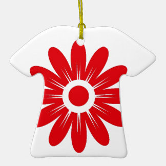 Red flower ceramic T-Shirt decoration