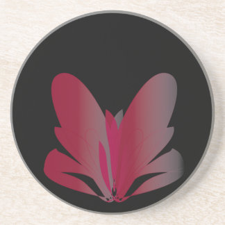Red Flower Drink Coasters