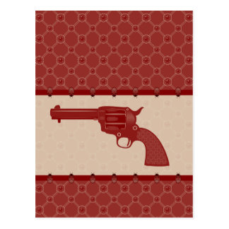 Red Flower Gun Postcard