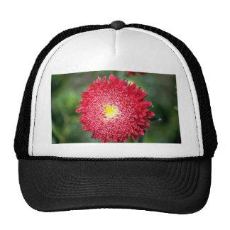 Red flower trucker hats