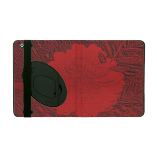 red flower iPad cover