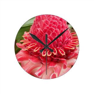 Red Flower.jpg Wallclocks