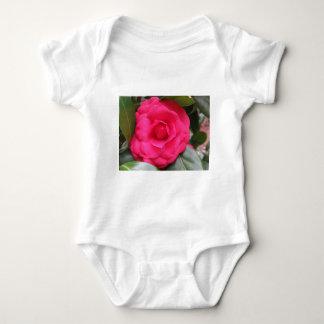 Red flower of Camellia japonica Rachele Odero Baby Bodysuit