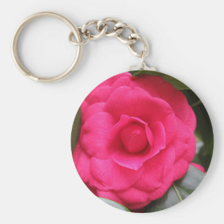 Red flower of Camellia japonica Rachele Odero Key Ring