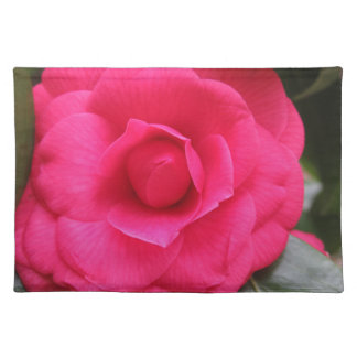 Red flower of Camellia japonica Rachele Odero Placemat