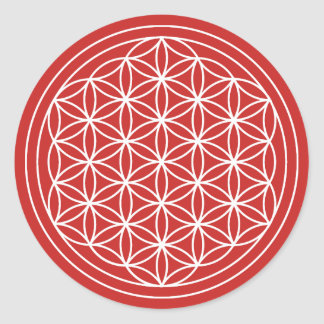 Red Flower of Life Sticker